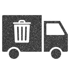 Rubbish Transport Van Icon Rubber Stamp vector image