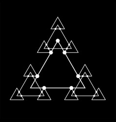 sacred geometry triangle based symbol and elements vector image