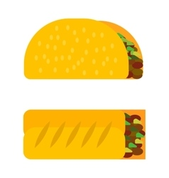 Sandwich roll icon vector