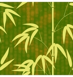 Seamless pattern drawn japanese style bamboo on a vector
