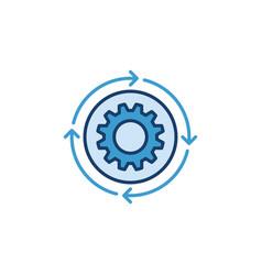 Settings blue concept modern icon or logo vector