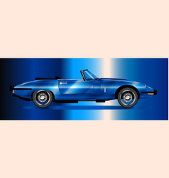 Sleak british sports car vector