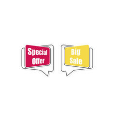 special offer tag big sale tag in linear style vector image