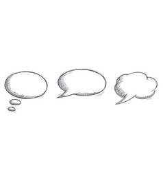 speech bubbles hand drawn doodles set vector image