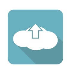 Square cloud upload icon vector image