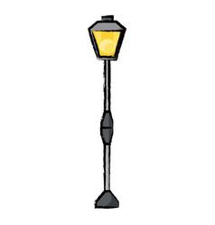 street light icon vector image