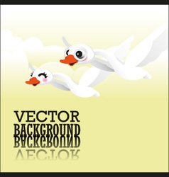 Swan flying vector image