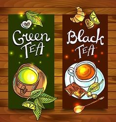 tea banners vector image