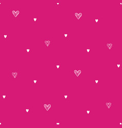 valentines hand drawn cupcakes pattern-21 vector image
