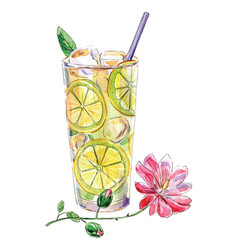 Watercolor lemonade vector