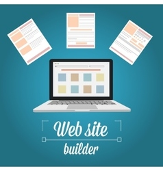 Web site builder template prototyping vector