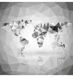 World map triangle design vector image