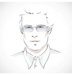 Young businessman portrait vector