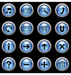 blue buttons vector image vector image