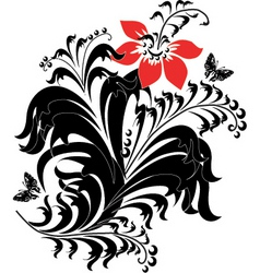 composition with a flower vector image