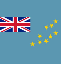 flag of tuvalu official colors and proportions vector image