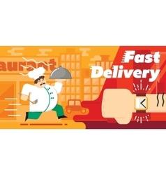 Food fast delivery design vector image
