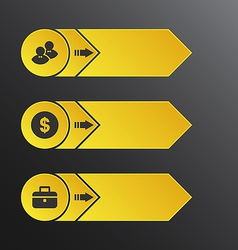 Modern design banners with info graphic business vector image
