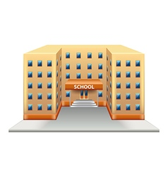 School building isolated on white vector image vector image
