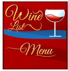 wine list menu vector image
