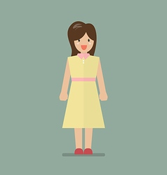 Woman in flat style vector