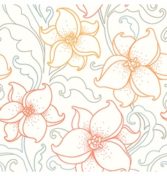 Flower pattern light vector