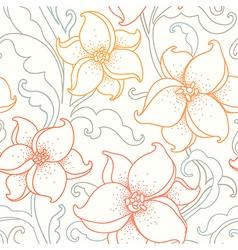 flower pattern light vector image vector image