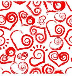 heart shape pattern vector image vector image