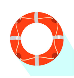 isolated lifesaver icon vector image vector image