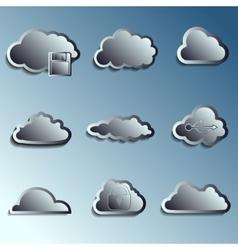 steel 3d clouds vector image vector image