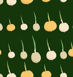 Background of the onion bulbs seamless pattern of vector image