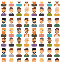 character expressions bearded man face seamless vector image