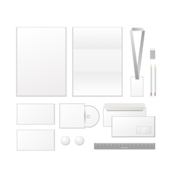 Corporate identity template design Business set vector image vector image