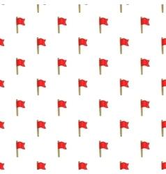 Football flag pattern cartoon style vector image vector image