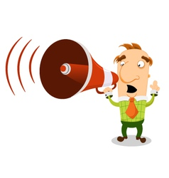 Man With Megaphone vector image vector image