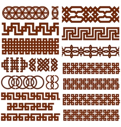 Ornate borders set vector