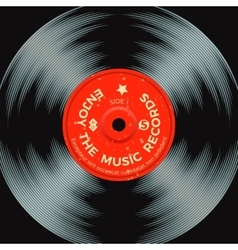 Retro vinyl record poster vector image vector image