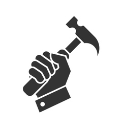 hand hammer icon vector image vector image