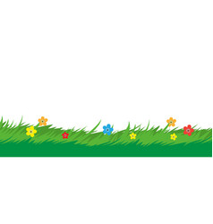 nature background grass foliage and flower plant vector image vector image