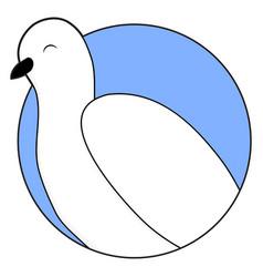white dove sticker icon vector image