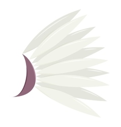 White wing icon cartoon style vector image