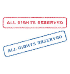 All rights reserved textile stamps vector