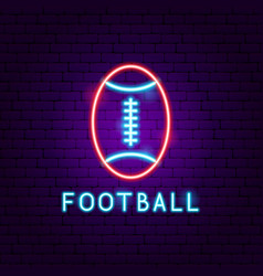 american football neon label vector image