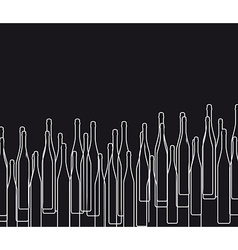 Background with bottles BLACK vector image