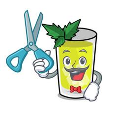 Barber mint julep character cartoon vector