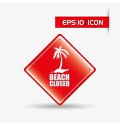 Beach concept design vector