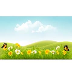 Beautiful summer landscape background vector image