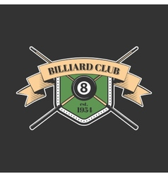 Billiards and snooker sports emblem vector image