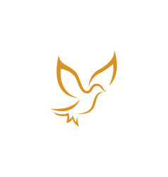 bird wing dove logo template vector image