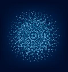 blue light mandala abstract ornament vector image